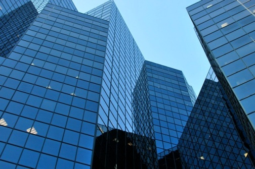 Highrise financial buildings