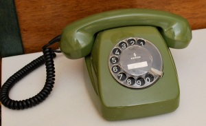Dial telephone avacado