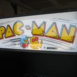Pac-Man marquee arcade machine