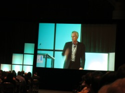 Mike Staver on a conference screen