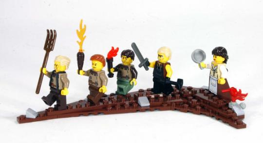 Lego angry peasant mob