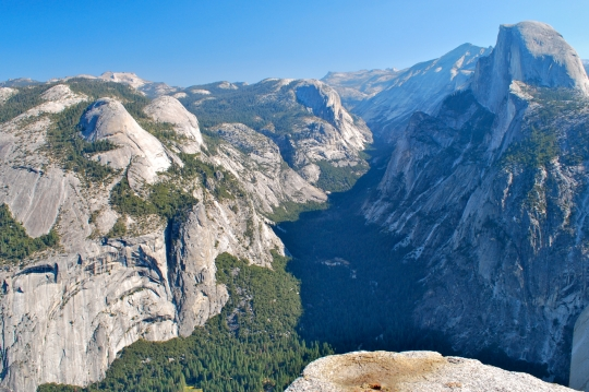 View of Half Dome from Glacier Point Yosemite