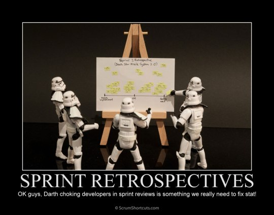 Axis Agile Stormtroopers Doing Sprint Retrospective