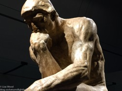 Plaster of Rodin's The Thinker at Musee des Beaux Arts Montreal